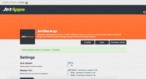 Jetbackup Manager Installation
