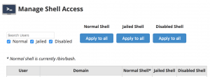 Manage Shell Access